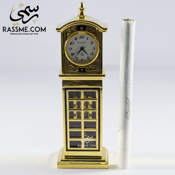 High Quality Solid Brass Desk Clock - Free Engraving - in Jordan