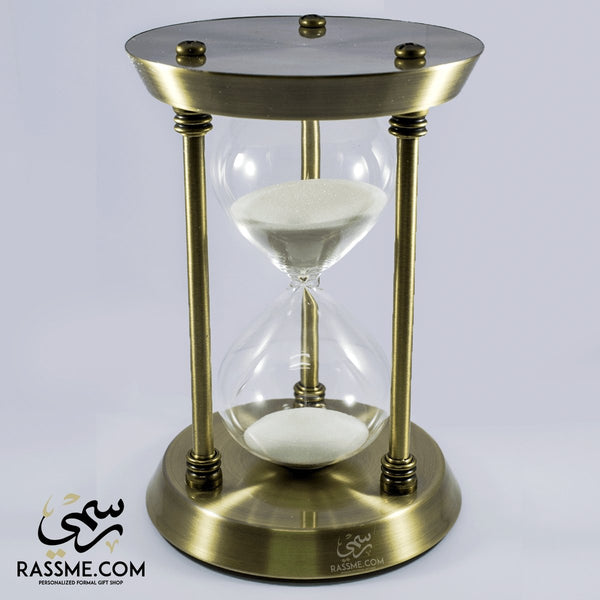 Hourglass Elegant Solid Brass Large Sand Clock - Free Engraving - Rassme