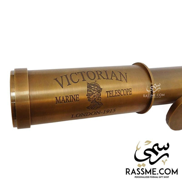 Victorian London Brass Telescope Multi Levels With Box - Free Engraving - in Jordan