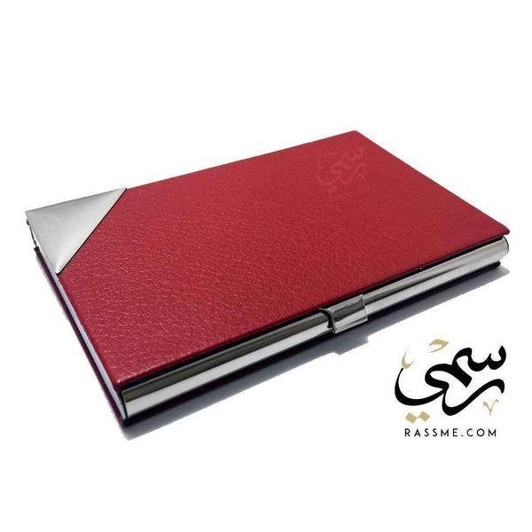 Business Card Holder Red - Free Hand Engraving - in Jordan