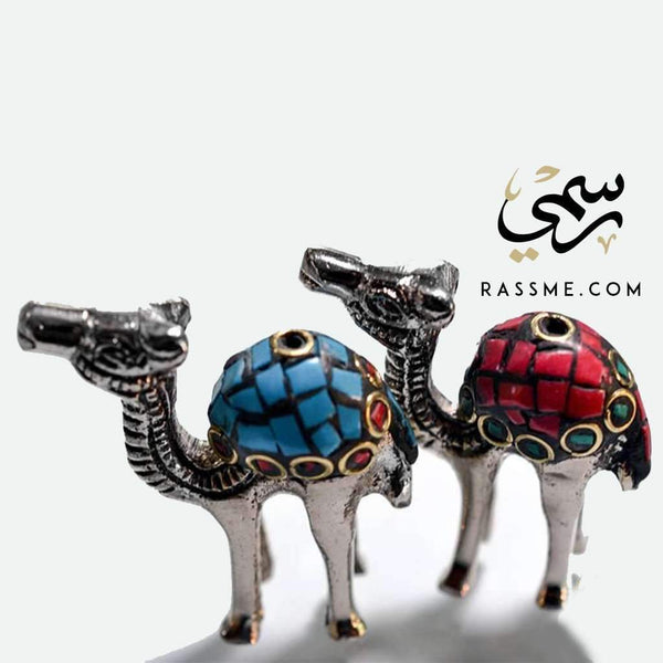 Camel incense holder with Steel and stones - Rassme