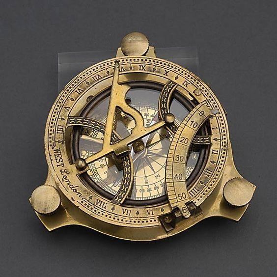Personalized Astrolabe with Compass Solid Brass - in Jordan
