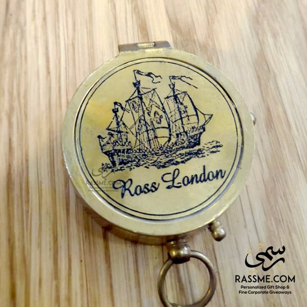 Personalized Solid Brass Flip Compass - in Jordan