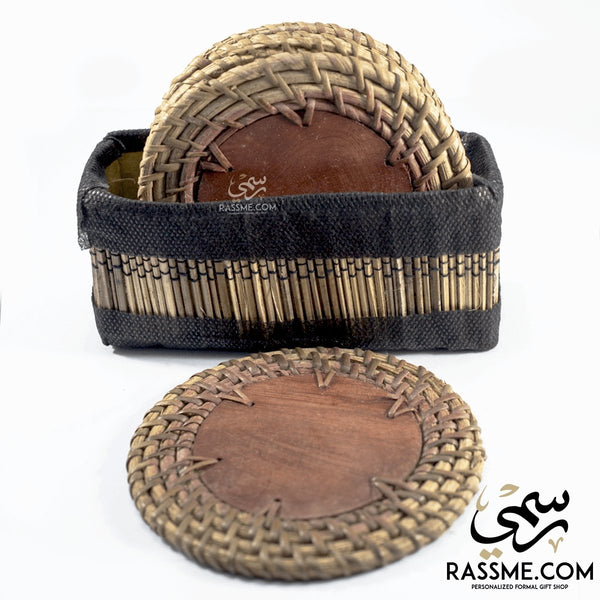 Straw Coaster 6 pcs - in Jordan