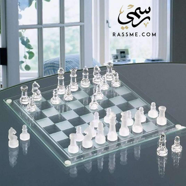 Crystal chess - Free Hand Engraving - in Jordan