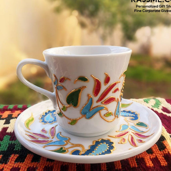 Porcelain Floral White Coffee / Tea cup - Rassme