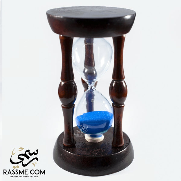 Hourglass Wooden Cage Sand Clock - Free Engraving - in Jordan