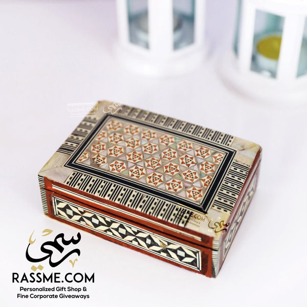 Handcrafted Premium Mosaic / Arabesque Mother Of Pearl Box - Rassme