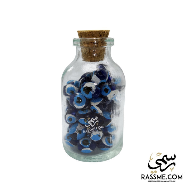 Magnet Mini Bottle Blue Eye Beads - Free Engraving - in Jordan