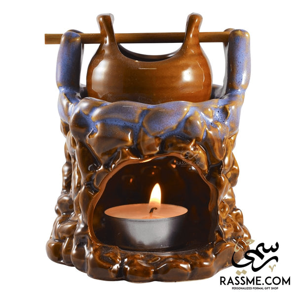Old Incense Heater Oil and chocolate Warmer - in Jordan