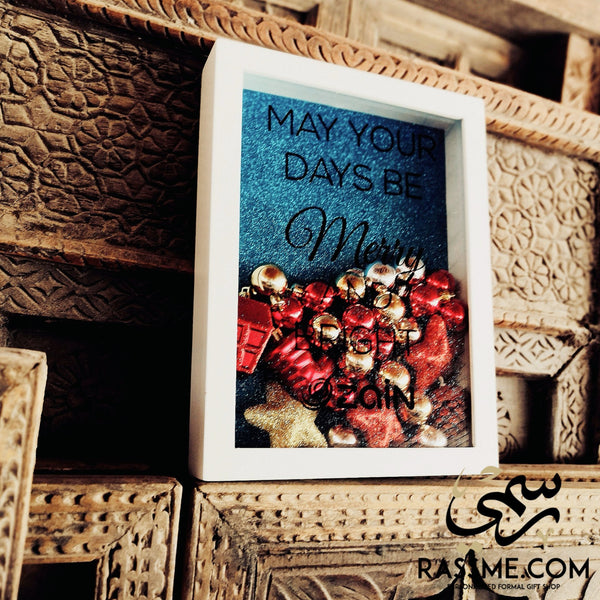 Christmas Personalized Large White Frame - in Jordan