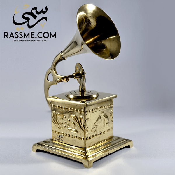 Gramophone Solid Brass Mini Square - in Jordan