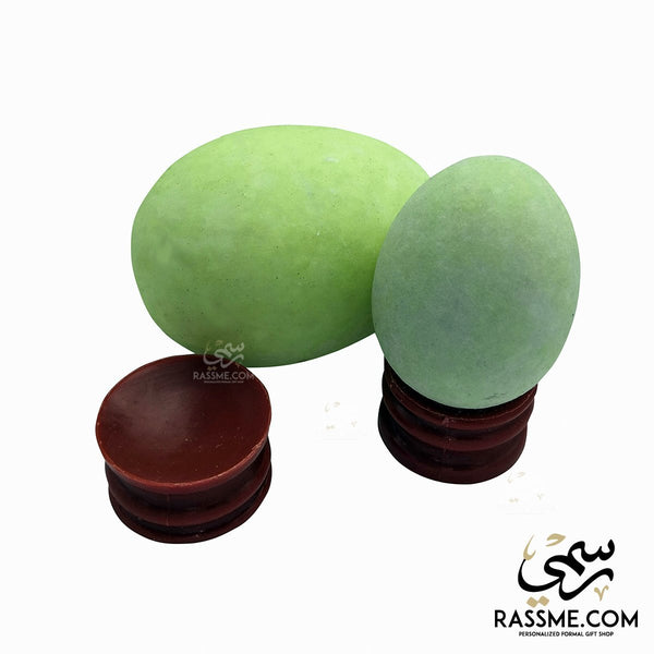 Natural Glowing Stone Egg With Stand - Rassme