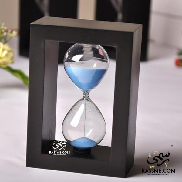 Hourglass Sand Clock Wooden Frame - رسمي, afghani, afghani, rassmi.com, rassme.com, Alafghani, Personalized Gifts, customized gifts, delivery jordan, giftshop, jordan giftshop, gift ideas, gift ideas in Jordan, best gifts, top gifts, Christmas gifts, gift for him, gifts for her