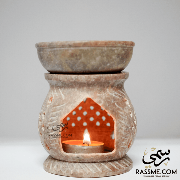 Marble Incense Oil Warmer - in Jordan