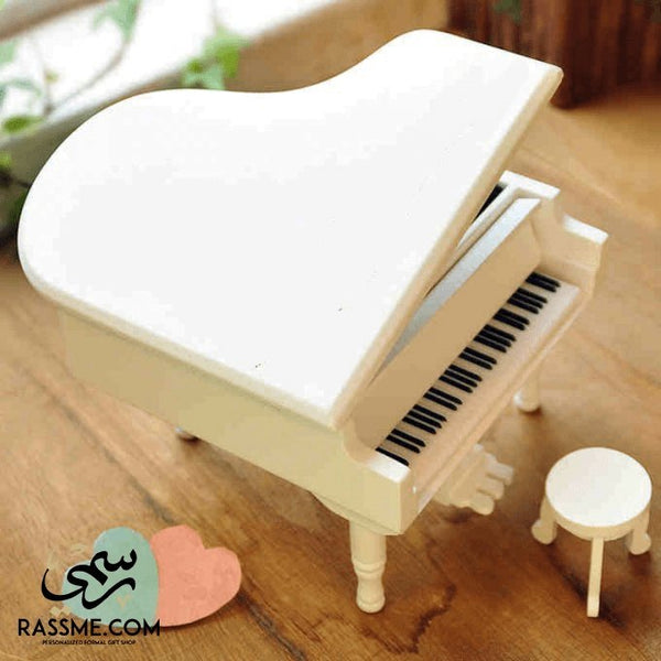 Wooden Music Box Piano - Free Engraving - Rassme