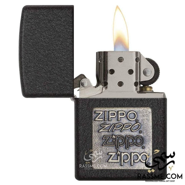 Black Crackle Silver Zippo Logo - Zippo Lighters In Jordan - in Jordan