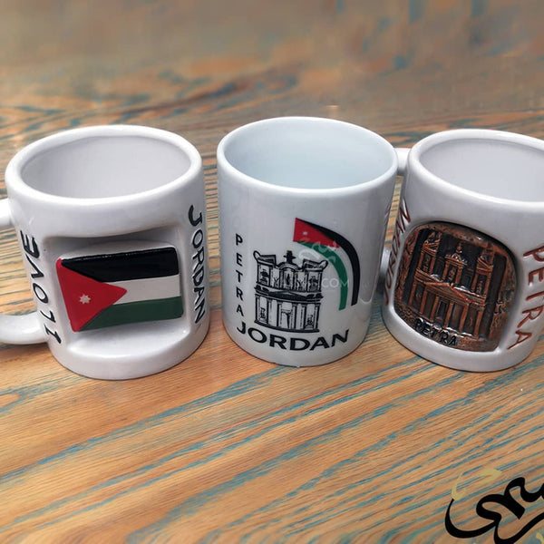 Souvenir from Jordan White 3D Mugs - in Jordan