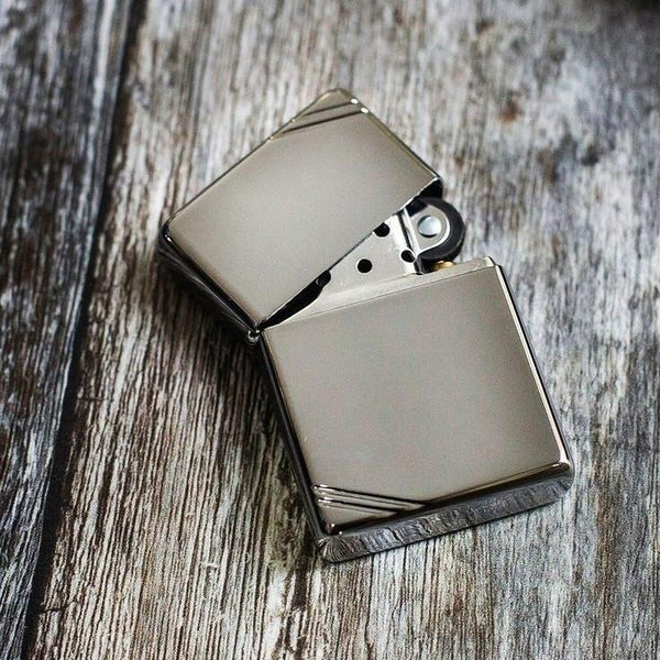 Brushed Silver with Slashes - Zippo Lighters In Jordan - in Jordan