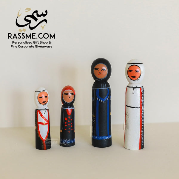 Wooden Bedouin Traditional Figures Set - in Jordan