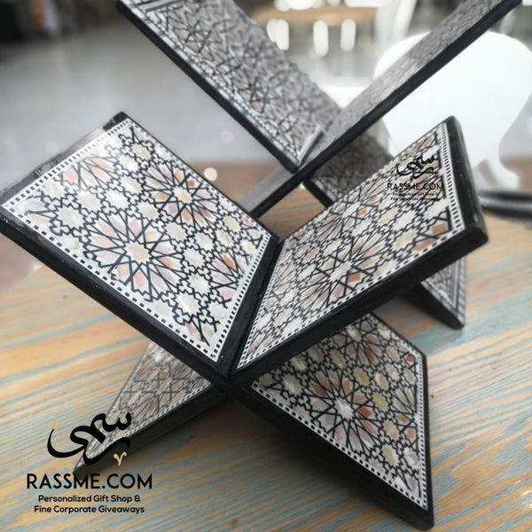 Handmade Wooden Quran Holder Book Stand Mother of Pearl - in Jordan