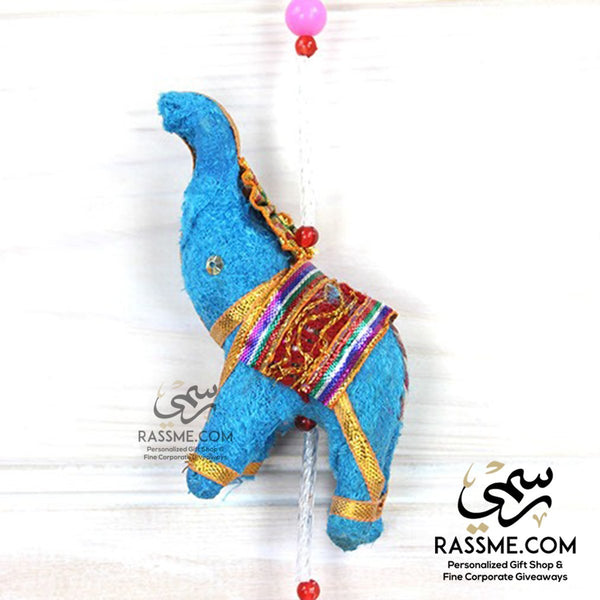 Handicrafts Indian Fabric Hanging Elephants String decoration - Rassme
