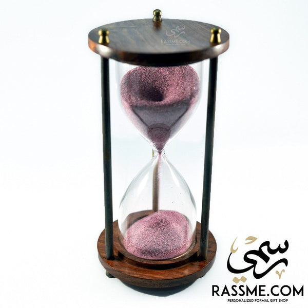 Hourglass Wooden Sand Clock Antique - Rassme