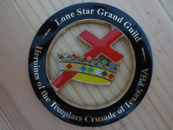 Lone Star Grand Guild Universal Car Badge - Free Masonic Ring  - Masonic Jewelry Free Masonic Ring - FreeMasonicRing.com