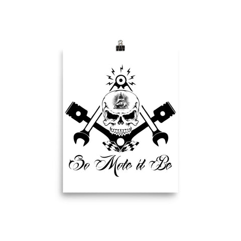 So Mote It Be Poster - Free Masonic Ring Poster - Masonic Jewelry Free Masonic Ring - FreeMasonicRing.com