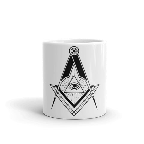 All Seeing Eye Mug - Free Masonic Ring  - Masonic Jewelry Free Masonic Ring - FreeMasonicRing.com