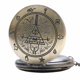 Vintage Bronze Free And Accepted Mason Pocket Watch - Free Masonic Ring Pocket Watch - Masonic Jewelry Free Masonic Ring - FreeMasonicRing.com