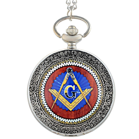 Antique Bronze Master Mason Pocket Watch - Free Masonic Ring Pocket Watch - Masonic Jewelry Free Masonic Ring - FreeMasonicRing.com