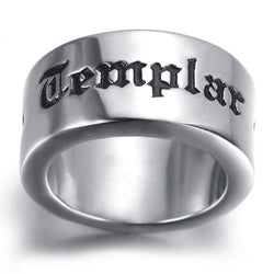 Knights Templar Stainless Steel Ring - Free Masonic Ring RING - Masonic Jewelry Free Masonic Ring - FreeMasonicRing.com