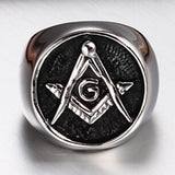 Vintage Stainless Steel Master Mason Signet Ring - Free Masonic Ring RING - Masonic Jewelry Free Masonic Ring - FreeMasonicRing.com