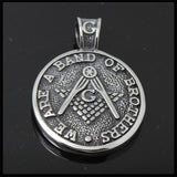 New Arrival Masonic Freemasonry 316L Stainless Steel Pendant - Free Masonic Ring Pendant & Charms - Masonic Jewelry Free Masonic Ring - FreeMasonicRing.com