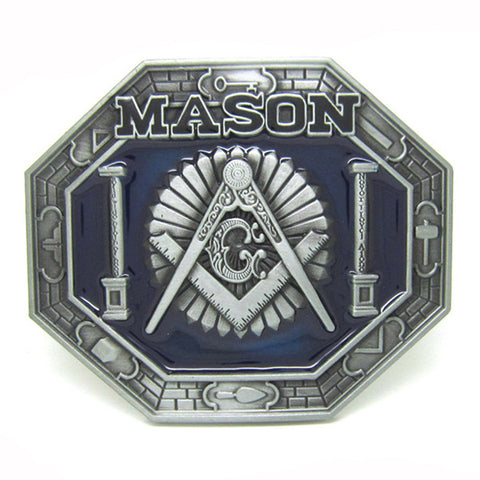 Blue Master Mason Belt Buckle - Free Masonic Ring Belt Buckle - Masonic Jewelry Free Masonic Ring - FreeMasonicRing.com