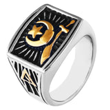18k Gold Plate Shriner Ring - Free Masonic Ring RING - Masonic Jewelry Free Masonic Ring - FreeMasonicRing.com