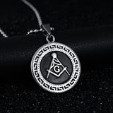 Stainless Steel Gothic Freemason Pendant Necklace - Free Masonic Ring Pendant & Charms - Masonic Jewelry Free Masonic Ring - FreeMasonicRing.com