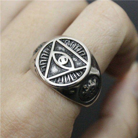 Antique Styled All Seeing Eye - Free Masonic Ring RING - Masonic Jewelry Free Masonic Ring - FreeMasonicRing.com