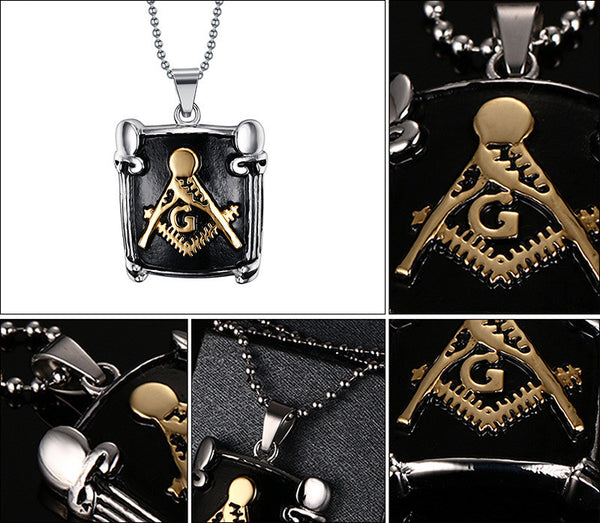Black Master Mason Pendant - Free Masonic Ring Pendant & Charms - Masonic Jewelry Free Masonic Ring - FreeMasonicRing.com