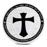 1pc Silver Plated Knights Templar Coin 8 Variants - Free Masonic Ring  - Masonic Jewelry Free Masonic Ring - FreeMasonicRing.com