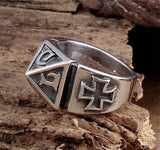 New- Knights Templar Pyramid Ring - Free Masonic Ring  - Masonic Jewelry Free Masonic Ring - FreeMasonicRing.com