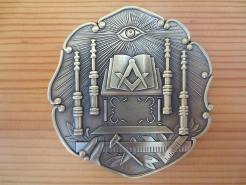Freemason Altar Universal Car Emblem - Free Masonic Ring Car Emblem - Masonic Jewelry Free Masonic Ring - FreeMasonicRing.com