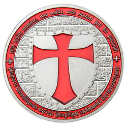 European Knights Templar Collectible Coin - Free Masonic Ring Collectible Coin - Masonic Jewelry Free Masonic Ring - FreeMasonicRing.com