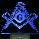 Freemason LED Night Light Sign with Day/Night Sensor - Free Masonic Ring Neon Light - Masonic Jewelry Free Masonic Ring - FreeMasonicRing.com