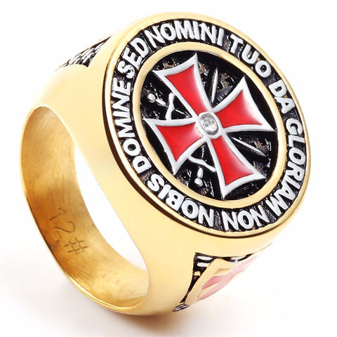 Non nobis Domine, sed nomini tuo da gloriam - Free Masonic Ring RING - Masonic Jewelry Free Masonic Ring - FreeMasonicRing.com