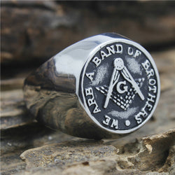 We Are A Band Of Brothers Freemason Ring - Free Masonic Ring  - Masonic Jewelry Free Masonic Ring - FreeMasonicRing.com