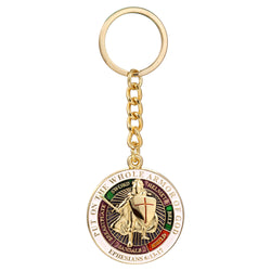 Knights Templar Put On The Whole Armor Of God Keyring - Free Masonic Ring  - Masonic Jewelry Free Masonic Ring - FreeMasonicRing.com