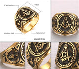 Vintage Master Mason Gold Plated Signet - Free Masonic Ring RING - Masonic Jewelry Free Masonic Ring - FreeMasonicRing.com