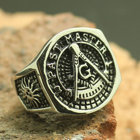 Hot New Past Master 316L Stainless Steel Ring - Free Masonic Ring  - Masonic Jewelry Free Masonic Ring - FreeMasonicRing.com